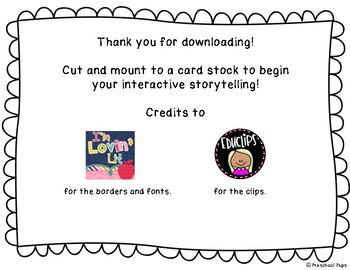 The Three Billy Goats Gruff Story Board by Preschool Pups