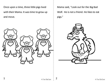 The Three Little Pigs Easy Reader and Comprehension