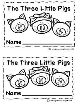 The Three Little Pigs (Emergent Reader, Teacher Lap Book