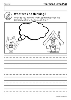The Three Little Pigs Worksheets and Activities by Lavinia