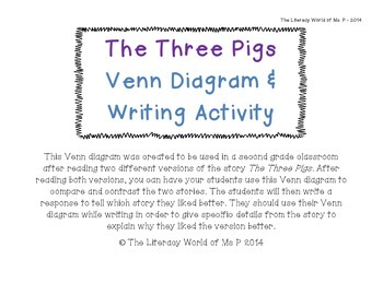 what is a venn diagram in writing vaillant ecotec plus 438 wiring the three pigs activity by literacy world of ms p