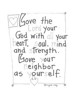 The Two Great Commandments of Jesus Christian / Catholic