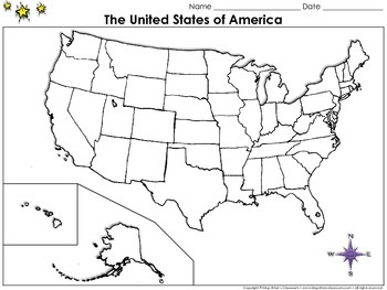 The United States of America Map Blank Full Page