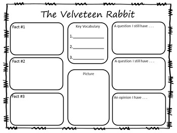 The Velveteen Rabbit ~ 41 pg. Common Core Activities by