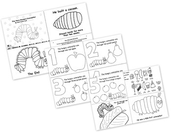 The Very Hungry Caterpillar Free Printables Coloring Pages Booklet