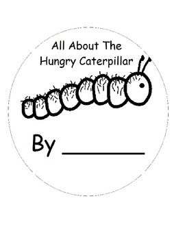 The Very Hungry Caterpillar Printable Vocabulary Book