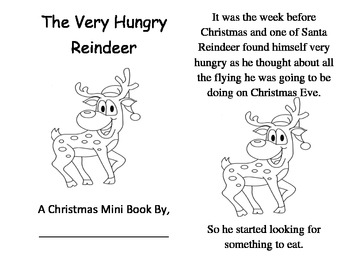 The Very Hungry Reindeer Book And Circle Time Activity by