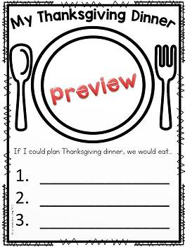 Turkey Crafts and Writing Activities by Classroom Base
