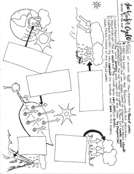 The Water Cycle Coloring Sheet by Scientifically Speaking