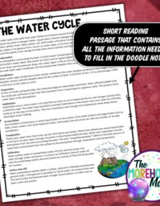The water cycle science doodle notes interactive notebook mini anchor chart also rh teacherspayteachers