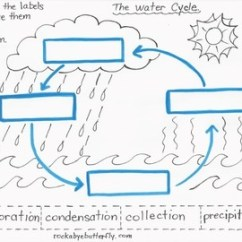 Water Cycle Diagram Without Labels Volvo S40 2004 Wiring Diagrams The Lesson Plan With Hand-drawn Printables! By Rockabye Butterfly