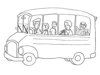 The Wheels On The Bus Song with Coloring Page by Learning