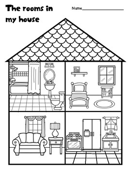 The rooms in my house by Learning Fun for early elementary
