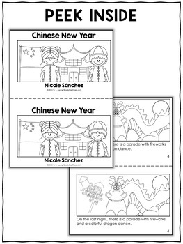 Chinese New Year Activities and Book by Nicole and Eliceo
