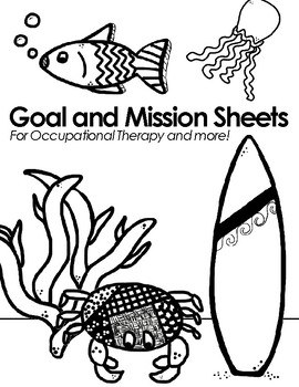 Therapy Goal and Mission Sheets: Oceanic Theme by SUPER OT