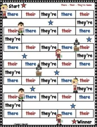 There Their They Re Lesson Worksheet - Kidz Activities