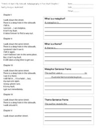 """There's a Hole in My Sidewalk"" Poetry Analysis Worksheet"