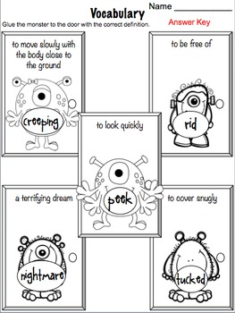 There's a Nightmare in My Closet Literacy Activities by