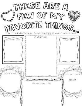 Things I Love Worksheet/ Coloring Page (Perfect for