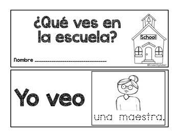 Things I see at School- Thematic Reader in Spanish by