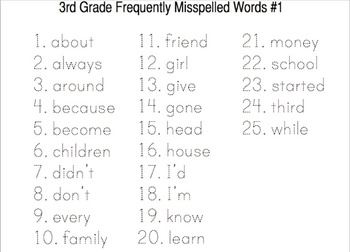 Word Work Activities For 3rd Grade Pdf