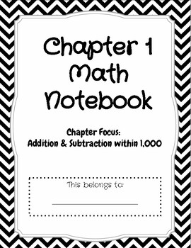 Third Grade: Chapter 1 Go Math Notebook by Quick Check