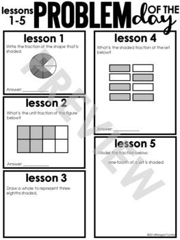 Guided Math Third Grade Unit 5: Fractions by Reagan