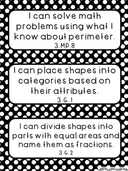 3rd Grade I Can Statements by Thrifty in Third Grade by