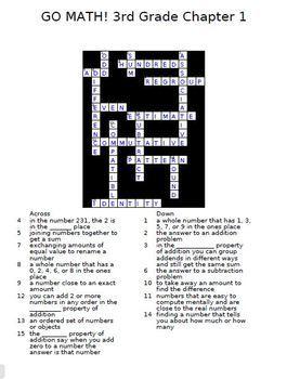 GO MATH 3rd Grade Vocabulary Crossword Puzzles Full Year