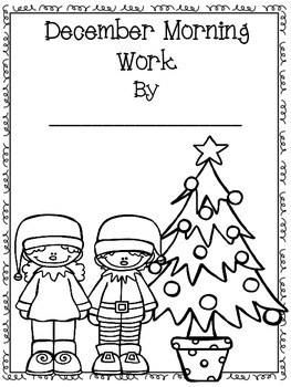 Third Grade Morning Work for December- Common Core Aligned