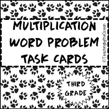 Third Grade Multiplication Word Problem Task Cards by