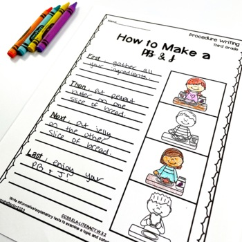 Third Grade Procedure Writing Prompts/Worksheets by