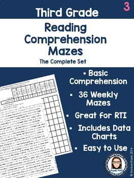 Third Grade Reading Comprehension Mazes Free Sample By Tripletmom