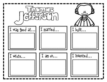 Thomas Jefferson Biography Study by The Creative Coach