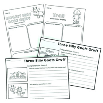 Three Billy Goats Gruff Fairy Tale Activity Pack by Tech