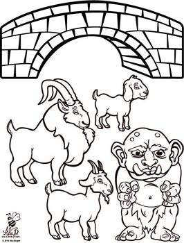Three Billy Goats Gruff Story Time Printables by Mrs Bs
