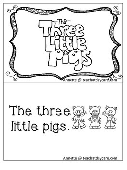 Three Little Pigs Emergent Reader. Pre-k, Kindergarten