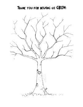 Thumbprint Tree-Thanks for helping us grow pdf by Sabrina
