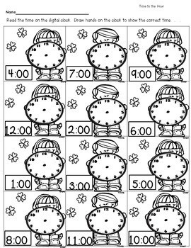 March Time 1st and 2nd, Telling Time Activities Common