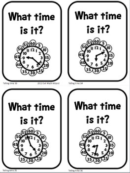 Telling Time Differentiated Task Cards for 2.MD.7 and 3.MD