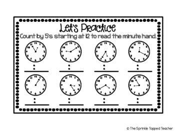 Telling Time Review Foldable Includes AM PM by The