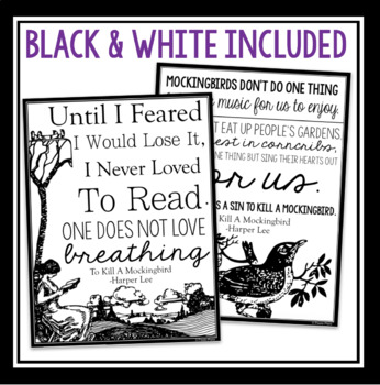 TO KILL A MOCKINGBIRD POSTERS WITH QUOTES by Presto Plans