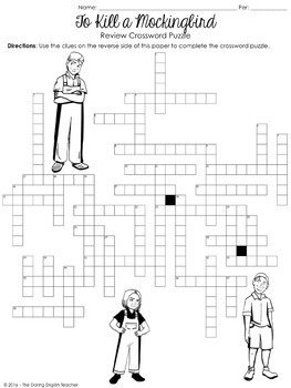 To Kill a Mockingbird Crossword Puzzle by The Daring