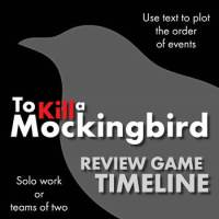To Kill a Mockingbird, Review Game Worksheet of Timeline ...