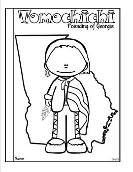 Tomochichi: Founding of Georgia Tab Booklet by Classroom