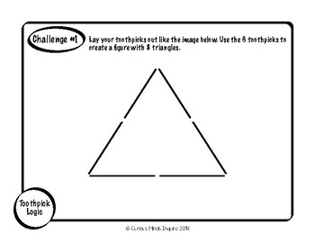 Toothpick Logic Packet Brain Teasers by From Second to
