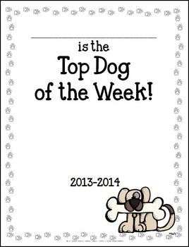 Top Dog Star of the Week Packet and Poster by Corinna