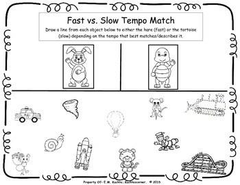 Tortoise & Hare Fast/Presto vs. Slow/Largo Matching