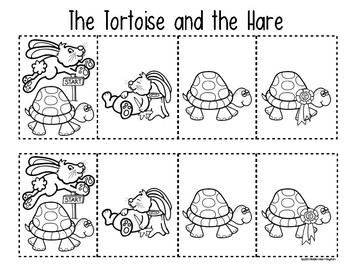 Tortoise & the Hare {Retelling a Story} Storyboard