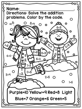 Touch Point Worksheet Winter Free by Calling All Ducklings